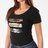 /achat-t-shirts/kaporal-tee-shirt-slim-femme-xail-noir-dore-argente-195434.html