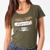 /achat-t-shirts/kaporal-tee-shirt-slim-femme-xail-vert-kaki-dore-argente-195435.html