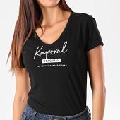 /achat-t-shirts/kaporal-tee-shirt-slim-col-v-femme-xavra-noir-195436.html