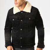 /achat-vestes/bombers-original-veste-col-mouton-skins-noir-195470.html