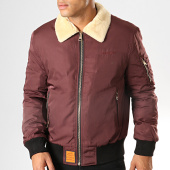/achat-bombers/bombers-original-bomber-col-mouton-bordeaux-195499.html