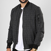 /achat-bombers/celio-bomber-a-carreaux-dandy-gris-anthracite-195478.html