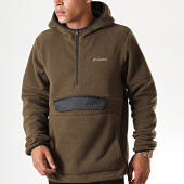 /achat-sweats-zippes-capuche/columbia-sweat-zippe-capuche-fourrure-rugged-ridge-vert-kaki-195674.html