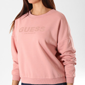 /achat-sweats-col-rond-crewneck/guess-sweat-crewneck-femme-w94q77-k8800-rose-195623.html