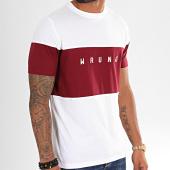 /achat-t-shirts/wrung-tee-shirt-lineblock-blanc-bordeaux-195460.html