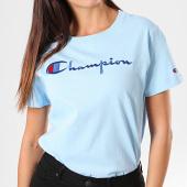 /achat-t-shirts/champion-tee-shirt-femme-110992-bleu-clair-195847.html