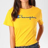 /achat-t-shirts/champion-tee-shirt-femme-110992-jaune-195851.html