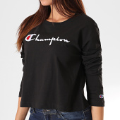 /achat-t-shirts-manches-longues/champion-tee-shirt-crop-femme-manches-longues-112198-noir-195857.html