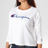 /achat-t-shirts-manches-longues/champion-tee-shirt-crop-femme-manches-longues-112198-blanc-195858.html