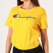 /achat-t-shirts-manches-longues/champion-tee-shirt-crop-femme-manches-longues-112198-jaune-195859.html
