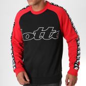 /achat-sweats-col-rond-crewneck/lotto-sweat-crewneck-a-bandes-athletica-iii-211760-noir-rouge-195839.html