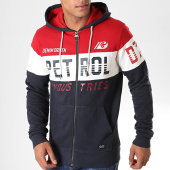 /achat-sweats-zippes-capuche/petrol-industries-sweat-zippe-capuche-342-bleu-fonce-rouge-blanc-195930.html