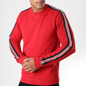 /achat-sweats-col-rond-crewneck/petrol-industries-sweat-crewneck-a-bandes-336-rouge-195931.html