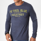 /achat-t-shirts-manches-longues/petrol-industries-tee-shirt-manches-longues-640-bleu-fonce-chine-jaune-195935.html