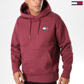 /achat-sweats-capuche/tommy-hilfiger-jeans-sweat-capuche-badge-6593-bordeaux-195916.html