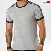 /achat-t-shirts/tommy-hilfiger-tee-shirt-a-bandes-0562-gris-chine-195953.html
