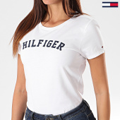 /achat-t-shirts/tommy-hilfiger-tee-shirt-slim-femme-print-0091-blanc-195962.html