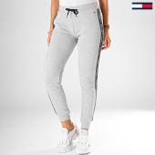 /achat-pantalons-joggings/tommy-hilfiger-pantalon-jogging-femme-a-bandes-0564-gris-chine-195978.html