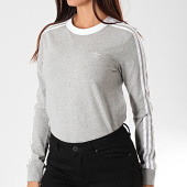 /achat-t-shirts-manches-longues/adidas-tee-shirt-manches-longues-femme-a-bandes-3-stripes-dv2591-gris-chine-196125.html