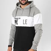 /achat-sweats-capuche/american-people-sweat-col-zippe-poker-gris-chine-noir-196155.html