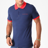 /achat-polos-manches-courtes/calvin-klein-polo-manches-courtes-contrast-3791-bleu-marine-rouge-196135.html