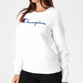 /achat-sweats-col-rond-crewneck/champion-sweat-crewneck-femme-112188-blanc-196269.html