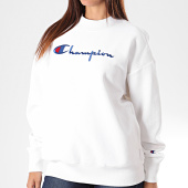 /achat-sweats-longs-oversize/champion-sweat-crewneck-femme-oversize-big-script-112192-blanc-196271.html