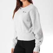 /achat-sweats-col-rond-crewneck/champion-sweat-crewneck-crop-femme-112235-gris-chine-196273.html