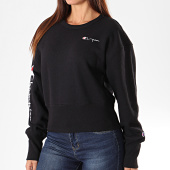 /achat-sweats-col-rond-crewneck/champion-sweat-crewneck-crop-femme-112235-noir-196274.html
