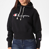 /achat-sweats-capuche/champion-sweat-capuche-femme-big-script-112552-noir-196277.html