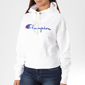 /achat-sweats-capuche/champion-sweat-capuche-femme-big-script-112552-blanc-196278.html