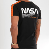 /achat-t-shirts/final-club-x-nasa-tee-shirt-space-exploration-avec-bandes-et-broderie-288-noir-196258.html