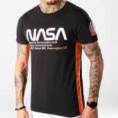 /achat-t-shirts/final-club-x-nasa-tee-shirt-space-administration-avec-bandes-et-broderie-289-noir-196259.html