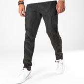 /achat-pantalons-carreaux/aarhon-pantalon-a-rayures-19006-noir-196403.html