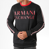 /achat-sweats-col-rond-crewneck/armani-exchange-sweat-crewneck-a-bandes-6gzm97-zj4dz-noir-196427.html