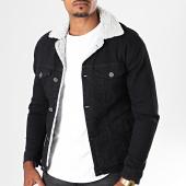 /achat-vestes-jean/black-needle-veste-en-jean-a-col-mouton-5005-noir-blanc-196366.html
