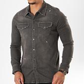 /achat-chemises-manches-longues/black-needle-chemise-jean-manches-longues-6867-gris-196408.html