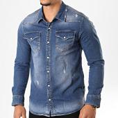 /achat-chemises-manches-longues/black-needle-chemise-jean-manches-longues-6892-bleu-denim-196414.html