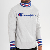 /achat-sweats-col-rond-crewneck/champion-sweat-col-montant-213698-gris-chine-196298.html