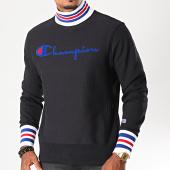 /achat-sweats-col-rond-crewneck/champion-sweat-col-montant-213698-noir-196300.html