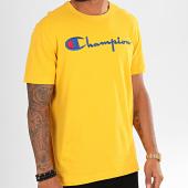 /achat-t-shirts/champion-tee-shirt-big-script-210972-jaune-196323.html