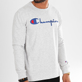 /achat-t-shirts-manches-longues/champion-tee-shirt-manches-longues-big-logo-213608-gris-chine-196330.html