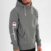 /achat-sweats-capuche/champion-sweat-capuche-big-script-213659-gris-anthracite-chine-196333.html