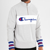 /achat-sweats-col-zippe/champion-sweat-col-zippe-big-script-213716-gris-chine-196334.html