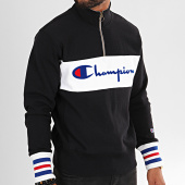 /achat-sweats-col-zippe/champion-sweat-col-zippe-big-script-213716-noir-196335.html