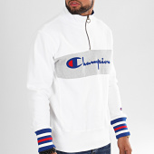 /achat-sweats-col-zippe/champion-sweat-col-zippe-big-script-213716-blanc-196336.html