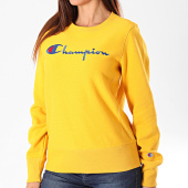 /achat-sweats-col-rond-crewneck/champion-sweat-crewneck-femme-112188-jaune-196347.html