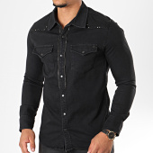 /achat-chemises-manches-longues/classic-series-chemise-jean-manches-longues-6685-noir-196367.html