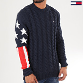/achat-pulls/tommy-hilfiger-jeans-pull-americana-flag-6997-bleu-marine-rouge-blanc-196377.html