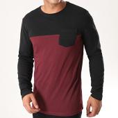 /achat-t-shirts-manches-longues/classic-series-tee-shirt-manches-longues-poche-h15970z21169a-bordeaux-noir-196516.html